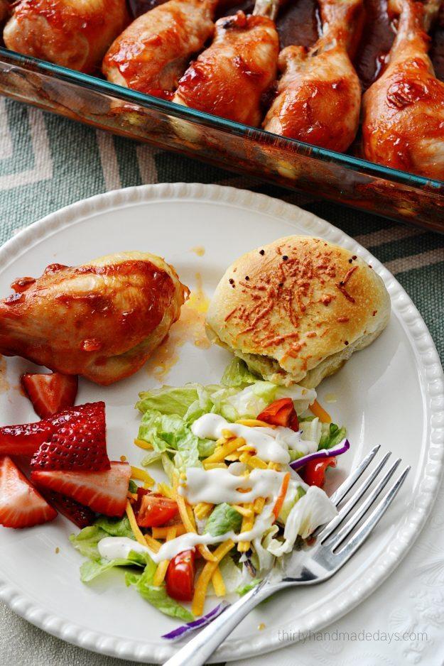4 Ingredient Chicken Drumettes from www.thirtyhandmadedays.com