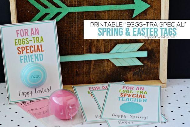 Printable Eggs-tra Special Spring & Easter Tags from www.thirtyhandmadedays.com