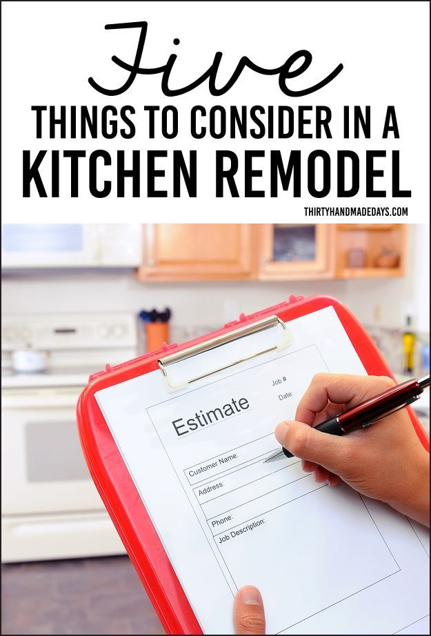 Five Things to Consider in a Kitchen Remodel www.thirtyhandmadedays.com