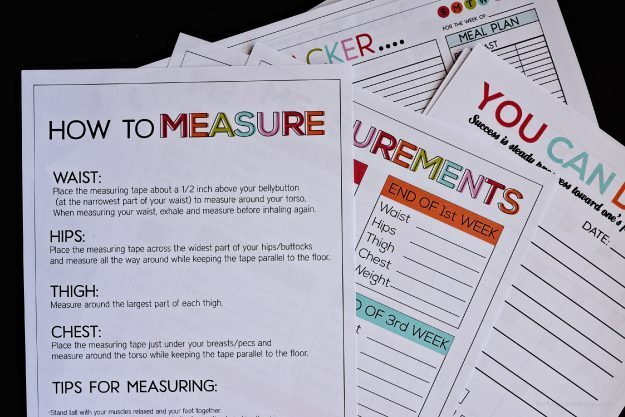 Printable Fitness & Health Binder - print over 20 printables to help you on your health journey. thirtyhandmadedays.com