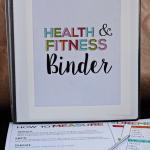 Printable Fitness & Health Binder - print over 20 printables to help you on your health journey. Thirty Handmade Days