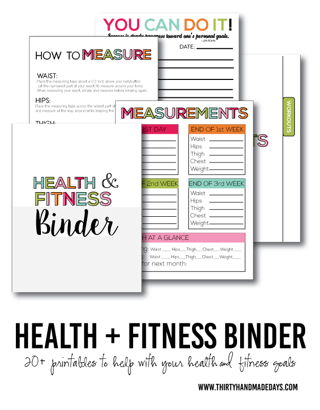 Fitness Amp Health Binder