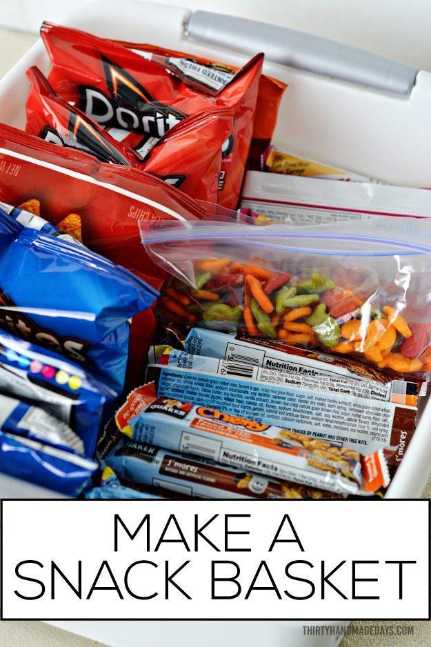 Make a snack basket for kids!