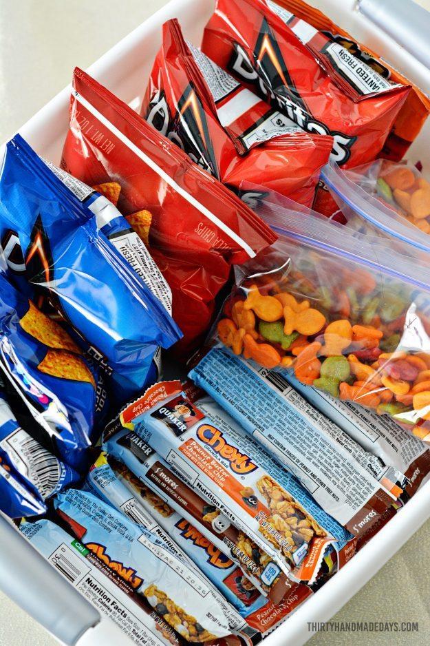 Make a snack basket for kids! Thirty Handmade Days