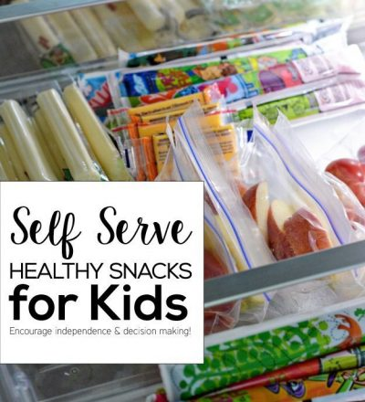 Self Serve Healthy Snacks for Kids! Encourage independence and decision making. www.thirtyhandmadedays.com
