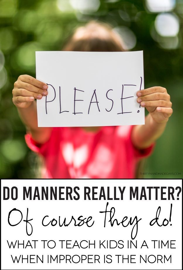 Kinder Garden: Guidelines For Manners To Teach Kids