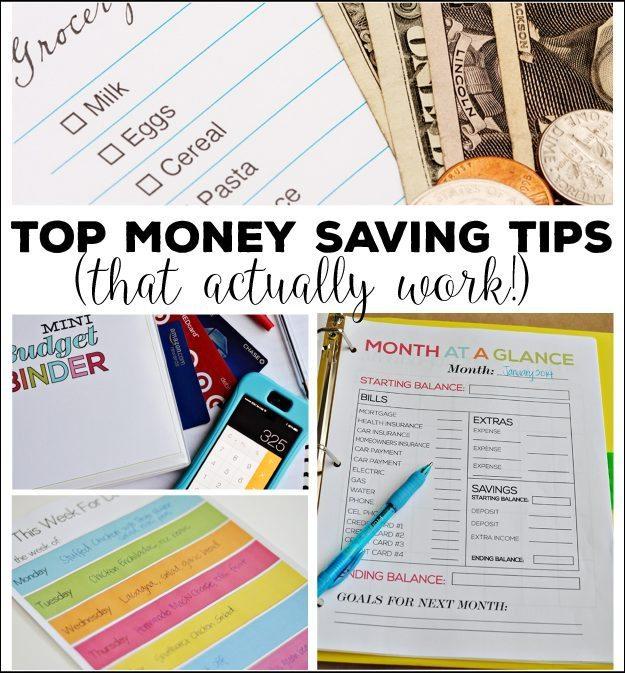 Money Saving Tips (that actually work!)
