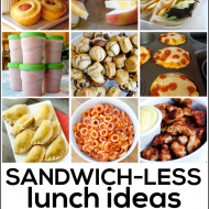 Sandwichless Lunch Ideas