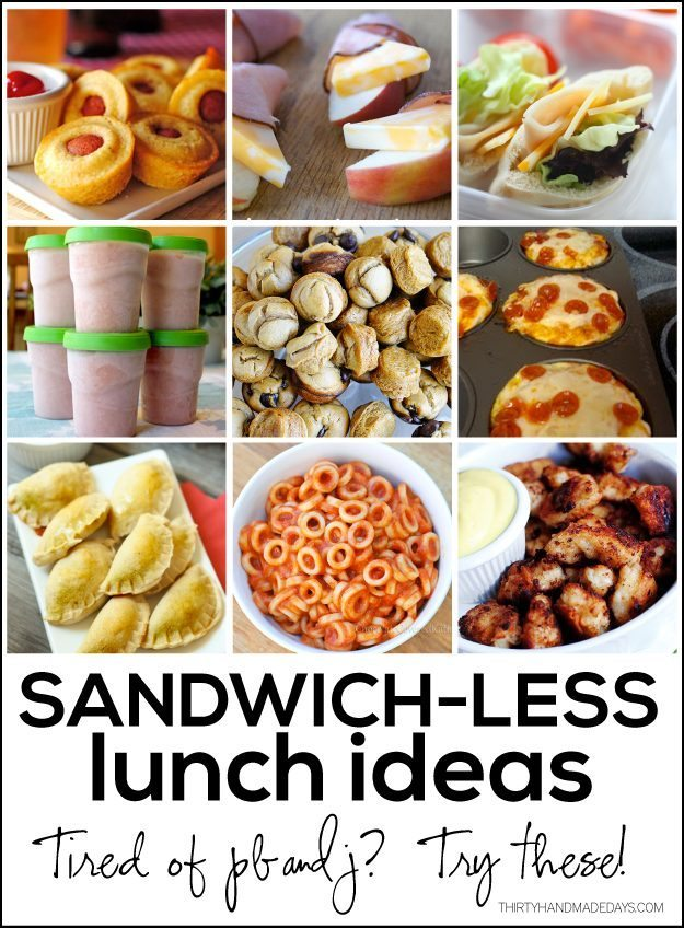 Sandwichless lunch ideas for Lunch food ideas