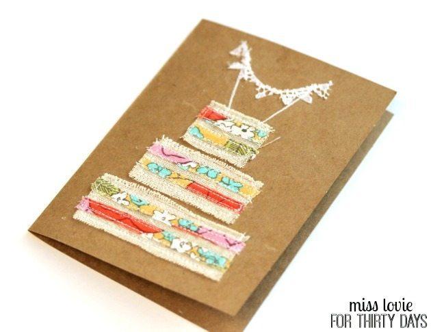 12 Naked Cake Wedding Cards