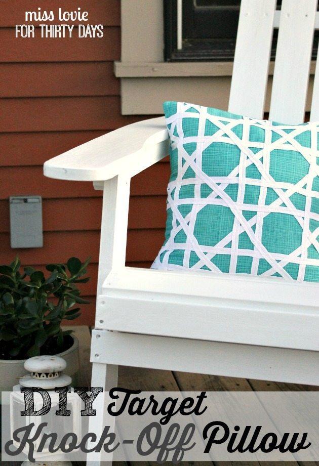 DIY Target Knock-Off Pillow