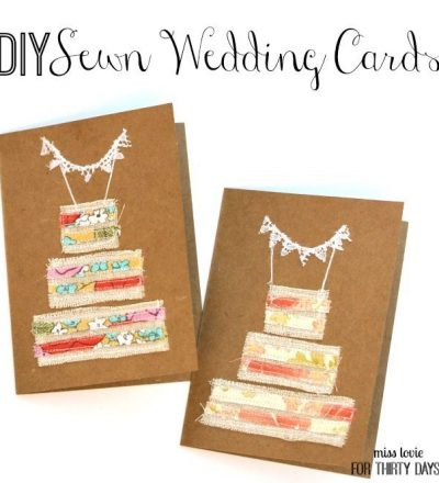 DIY Sewn Wedding Cards
