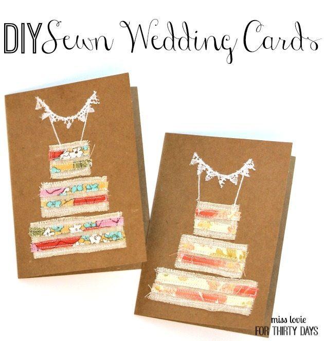 DIY Sewn Wedding Cards