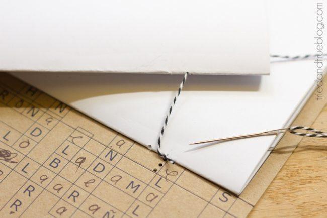 Super Easy Recycled Cardboard Journal - Bind