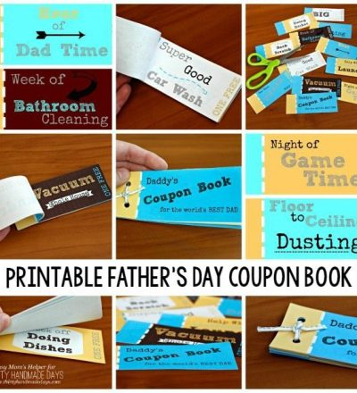 Printable Father's Day Coupon Book / by BusyMomsHelper.com for ThirtyHandmadeDays.com