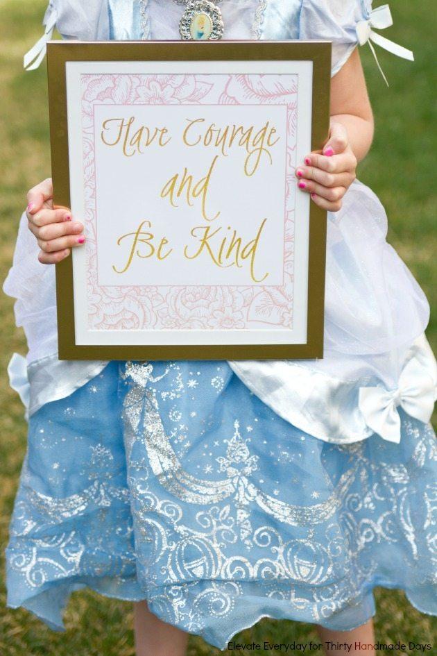 Free Printable - Darling Cinderella quote