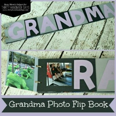 Photo Flip Book for Grandma or Mother's Day Gifts