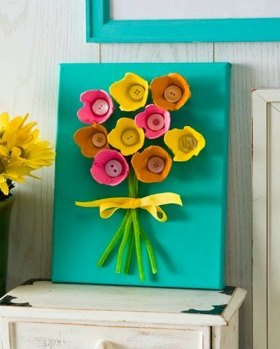 Mother's Day Gift Kid's Craft with Egg Cartons