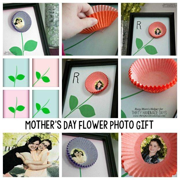 Mother's Day Flower Photo Gift / by BusyMomsHelper.com for ThirtyHandmadeDays.com