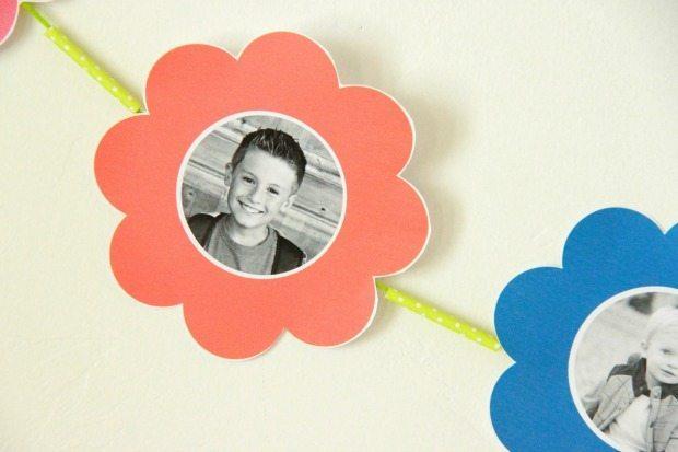 Photo Paper Flower Bouquet Banner 2