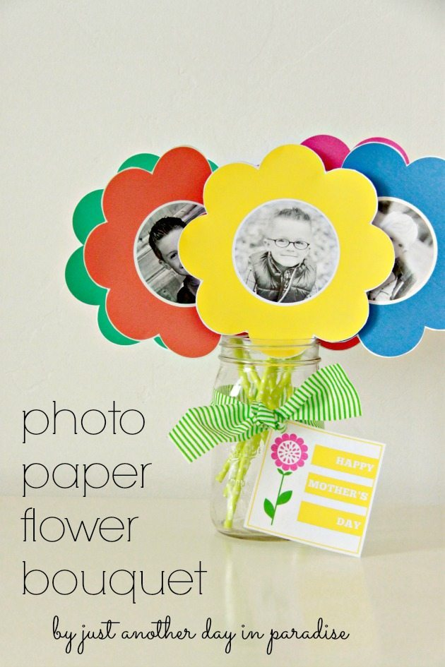 Photo Paper Flower Bouquet With Printable