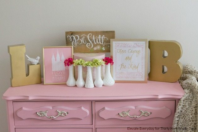 Pink and Gold Little Girls Room