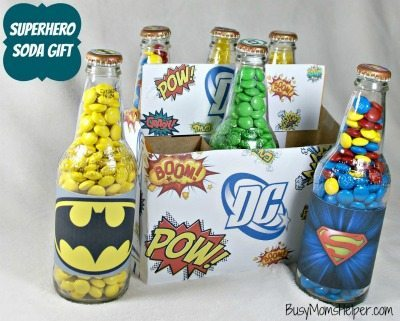 Superhero Soda Gift Printables