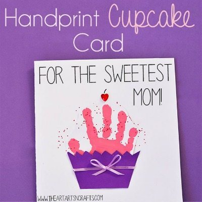Sweetest Mom Cupcake Card