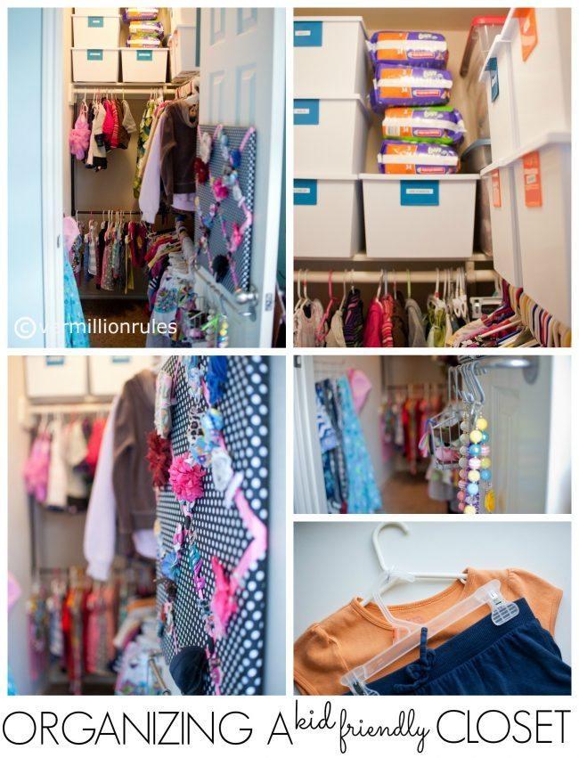 Organizing a Kid Friendly Closet from Beth via www.thirtyhandmadedays.com
