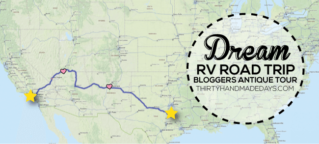 Dream RV Road Trip Bloggers Antique Tour via www.thirtyhandmadedays.com