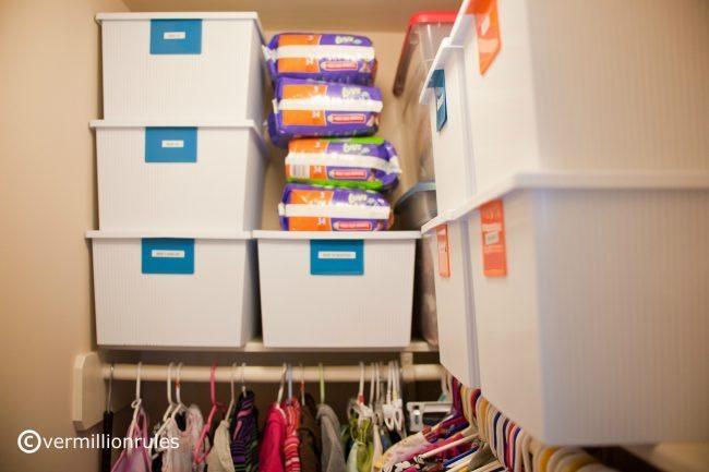 Organizing a Kid Friendly Closet