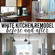 White Kitchen Remodel: Before and After