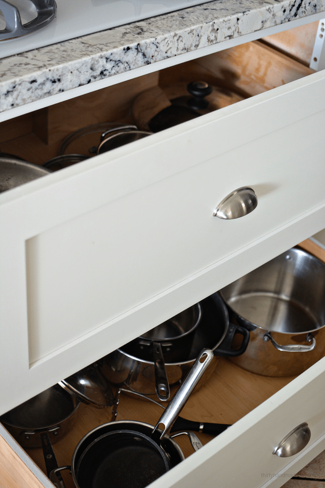 Kitchen Deep Drawers for pots and pans