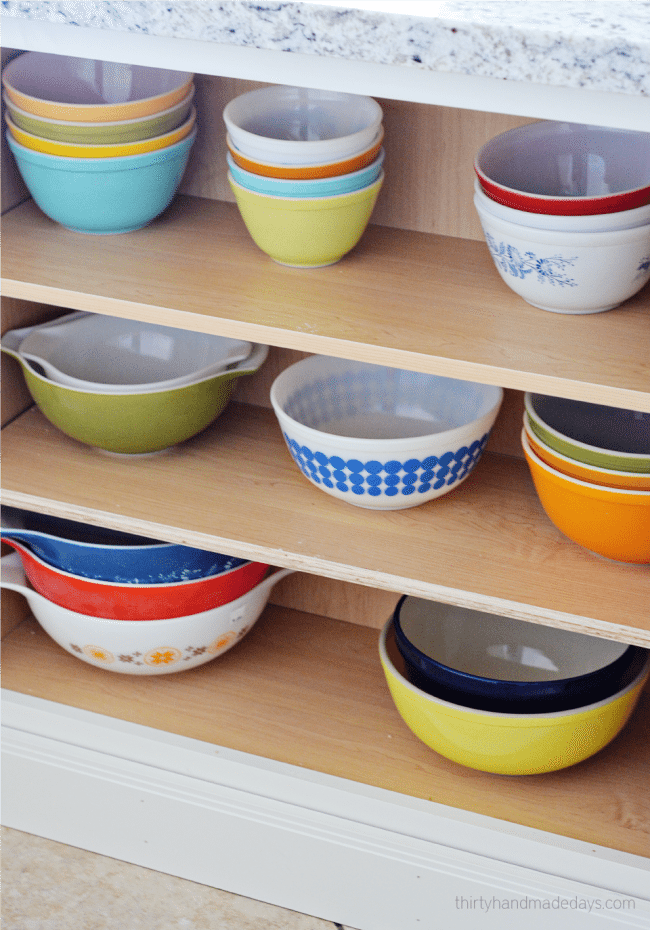 My Pyrex cabinets