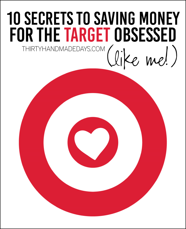 10 Tips for Saving Money at Target from www.thirtyhandmadedays.com