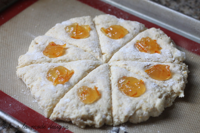 Orange Marmalade Scones ready for the oven
