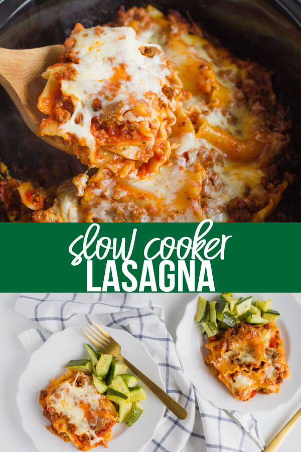 Crockpot Lasagna - a simple way to make an old family favorite. www.thirtyhandmadedays.com