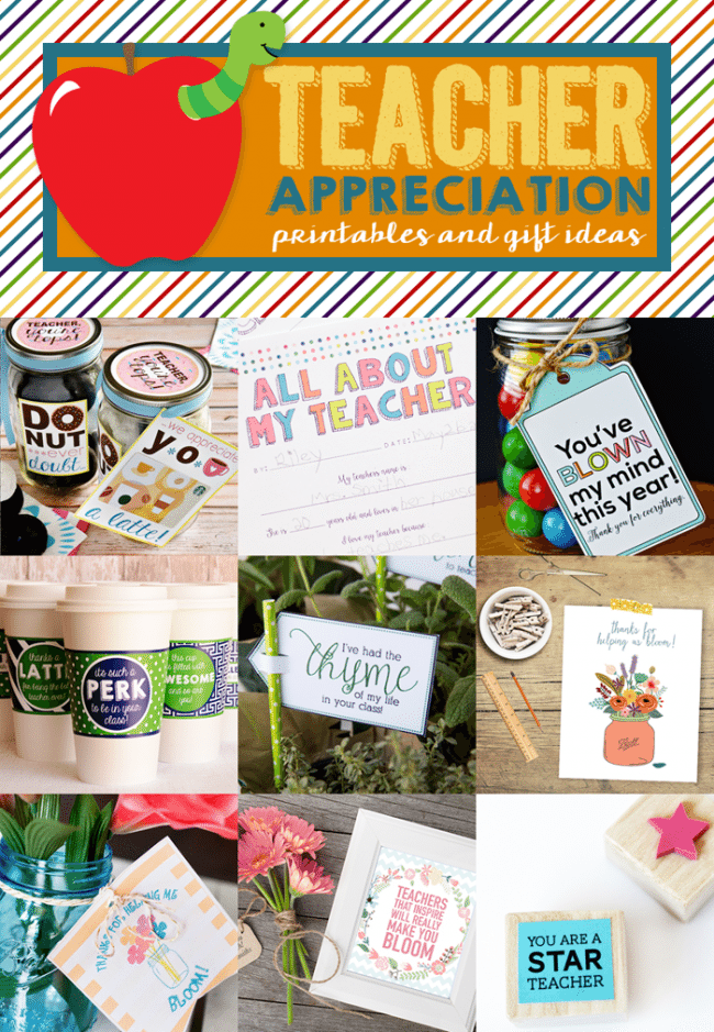 Teacher Appreciation Blog Hop - lots of ideas to make your teacher feel special!