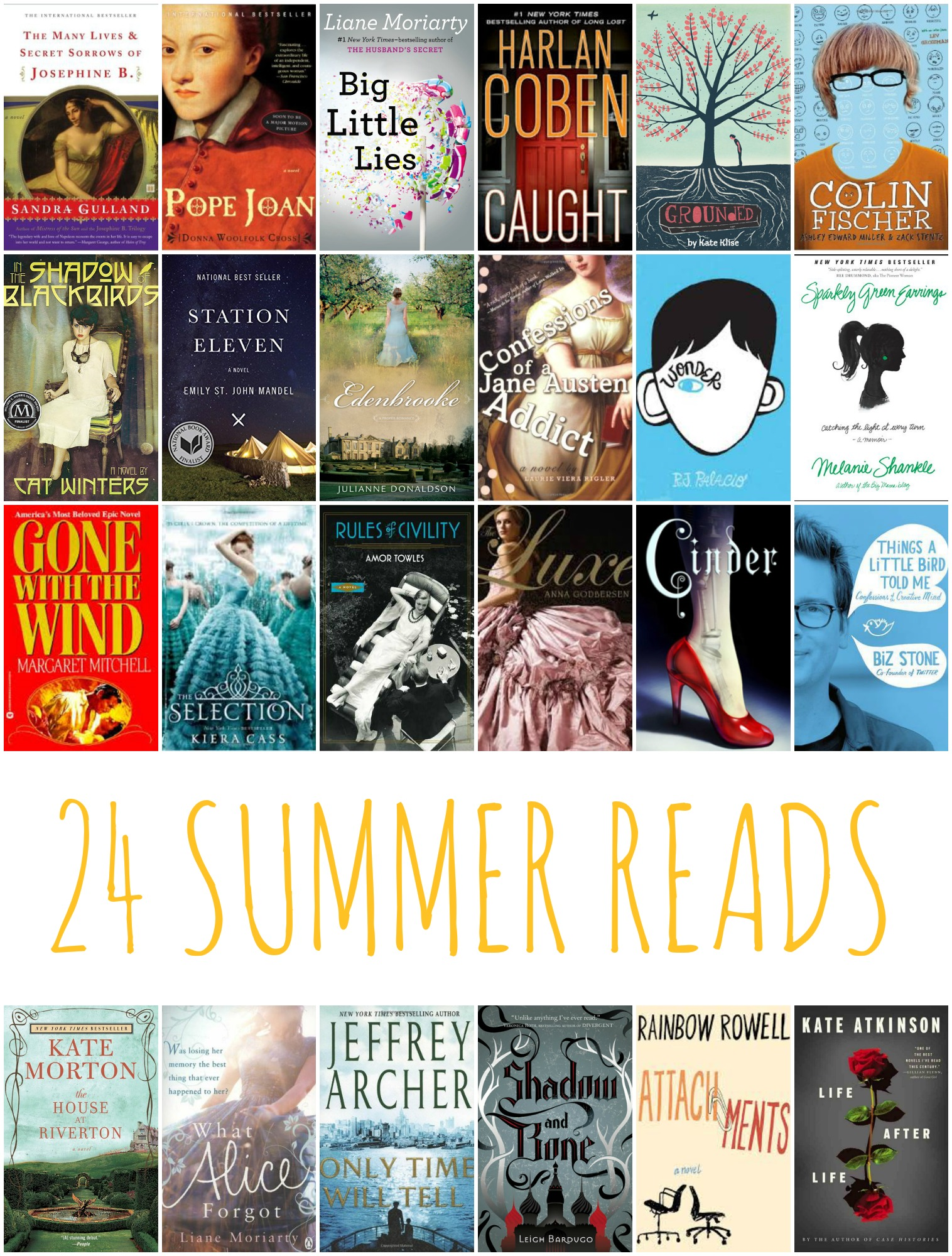 24 Books to Read this Summer from www.thirtyhandmadedays.com