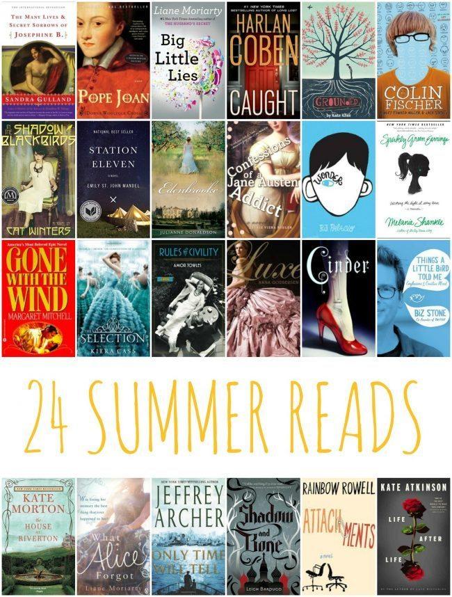 24 Books to Read This Summer via www.thirtyhandmadedays.com