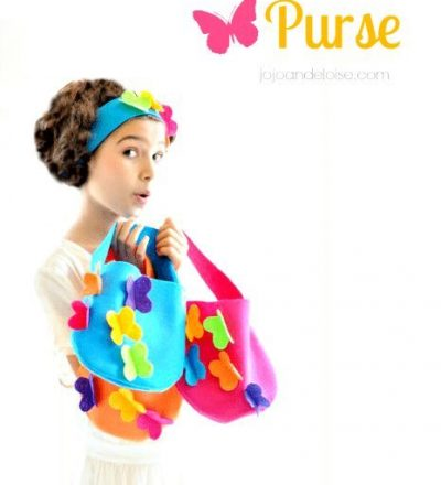 DIY Felt Purse from JoJo and Eloise for Funner in the Summer