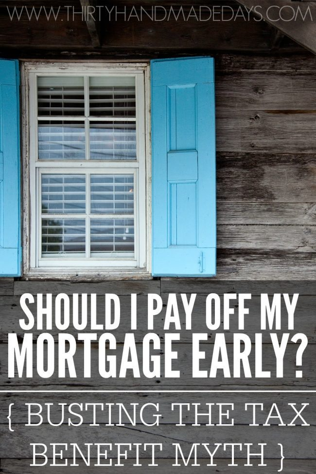 Should I pay off my mortgage early is a question that many people wonder especially when starting out on a debt-free journey. However, there is a myth that everyone gets a tax benefit for paying interest on their mortgage that holds many people back from paying off their mortgage early and becoming debt-free.