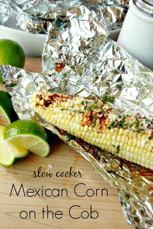 Slow Cooker Mexican Corn on the Cob 6