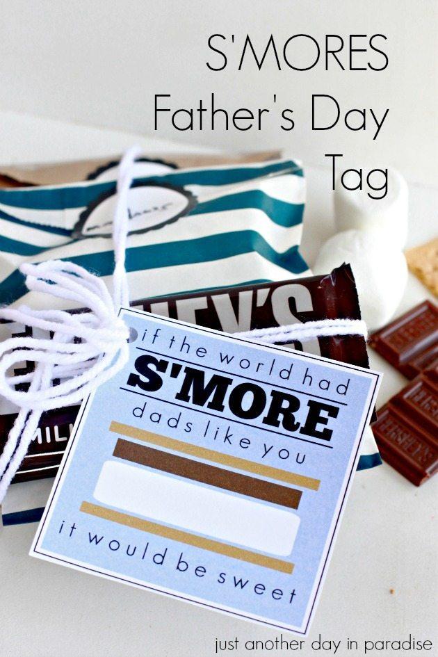 Smores Fathers Day Tag
