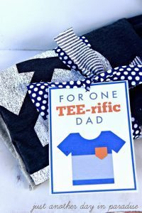 Teerific Dad T-shirt Gift edit