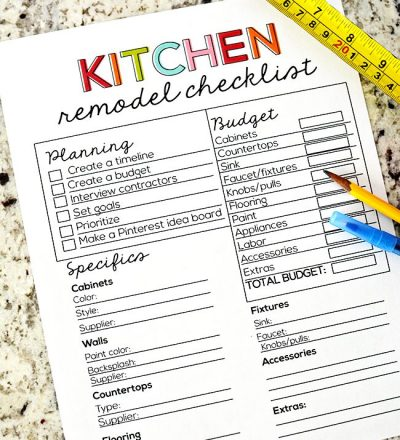 kitchenremodelchecklist30days 400x440jpg - Kitchen Remodel Checklist