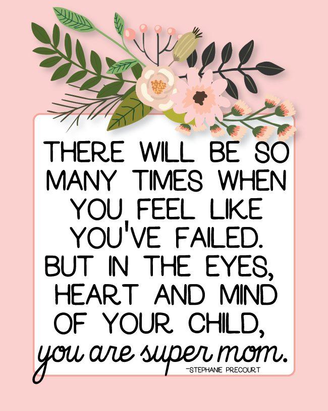 You are Super Mom printable from www.thirtyhandmadedays.com