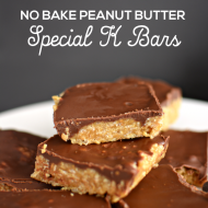 No Bake Peanut Butter Special K Bars