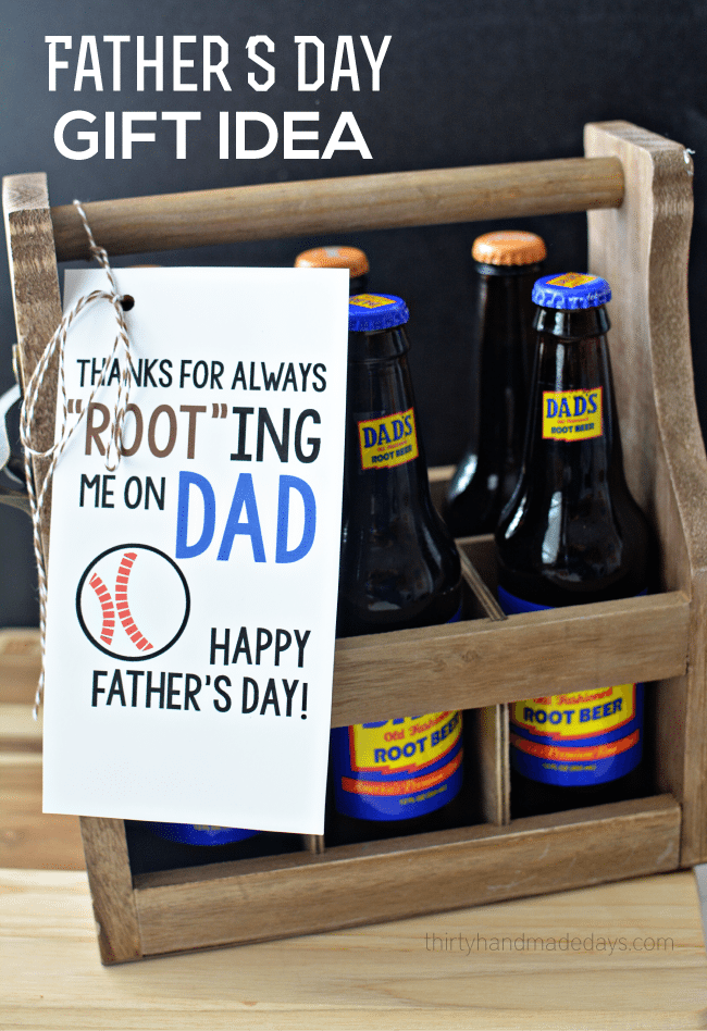 Printable Root Beer Father's Day Gift Idea from www.thirtyhandmadedays.com