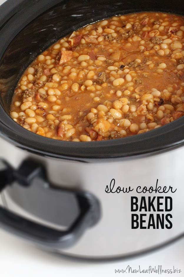 Slow Cooker Baked Beans - Thirty Handmade Days
